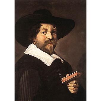 Portrait of a Man Holding a Book,Frans Hals,66x48.5cm