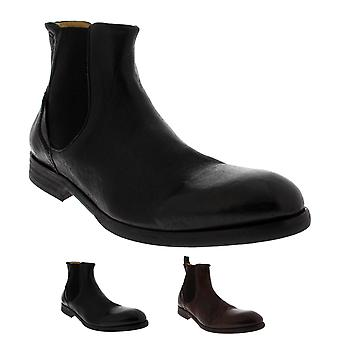 Mens H By Hudson Watchley Calf Leather Smart Formal Ankle Chelsea Boots
