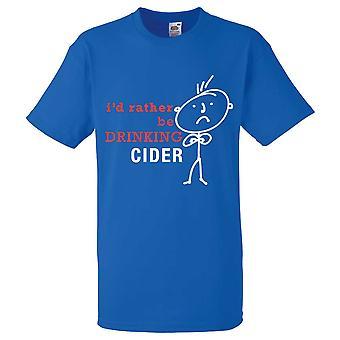 Mens ich würde lieber trinken Apfelwein Königsblau Tshirt