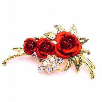 Esprimete il vostro amore in qualsiasi momento w / Red Rose spilla smalto bello lascia