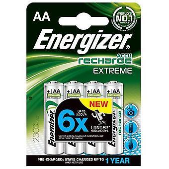 Energizer 2300mAh AA Extreme oplaadbare batterijen (pakje van 4)