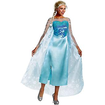 Elsa frosne Disney voksen kostume