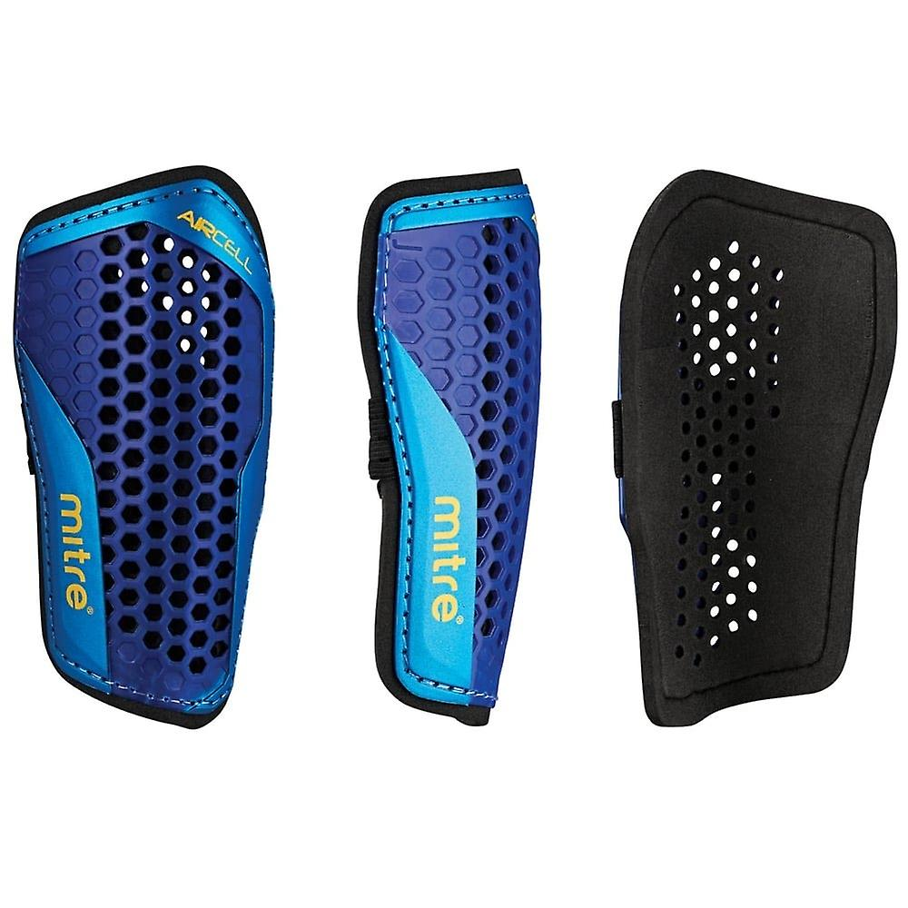 Mitre Aircell Speed Slip-In Football Shinguard Shinpad Purple/Blue