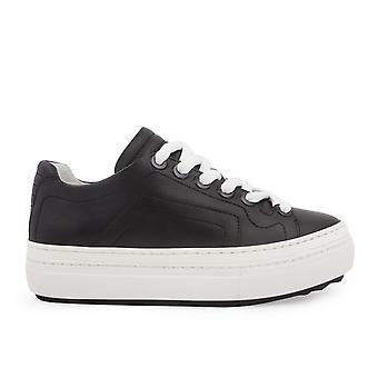 Pierre Hardy Ns05leatherblack Women-apos;s Black Leather Sneakers