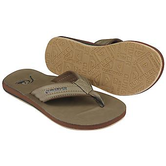 Quiksilver Mens Carver Nubuck Beach Casual Sandals-Tan/Brown