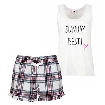 Sunday Best Pink Tartan Pyjamas