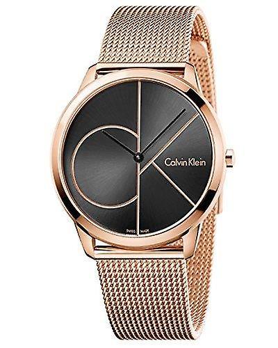 Calvin Klein Minimal Rose Gold Stainless Steel Unisex Watch K3M21621 40mm