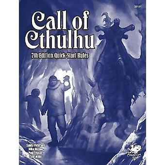 Appel des règles de démarrage rapide de Cthulhu 7e édition-livre