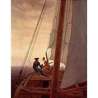 The Sailboat,Caspar David Friedrich,50x40cm