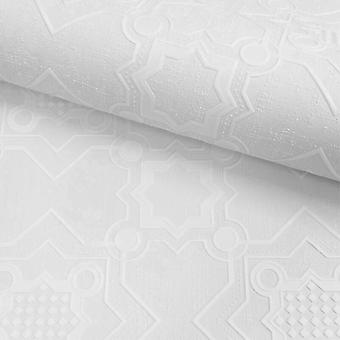 Wit overschilderbaar behang vinyl reliëf getextureerde tegel wasbaar Muriva Decorus