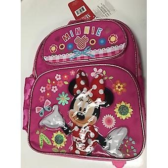 Small Backpack - Disney - Minnie Mouse - Flowers Pink 12