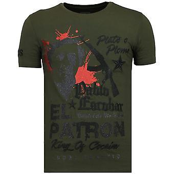 El Patron Pablo - Rhinestone T-shirt - Khaki