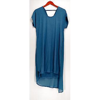 H par Halston Layered T-Shirt Dress With Crossover Back Blue A277949 H par Halston Layered T-Shirt Dress With Crossover Back Blue A277949 H par Halston Layered T-Shirt Dress With Crossover Back Blue A277949 H par