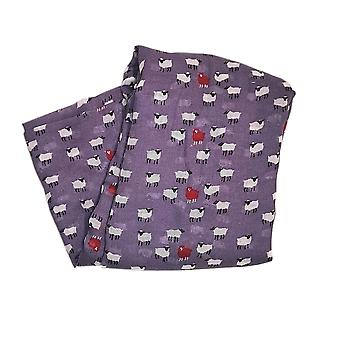 Sheep Print Scarf - Purple by Peony