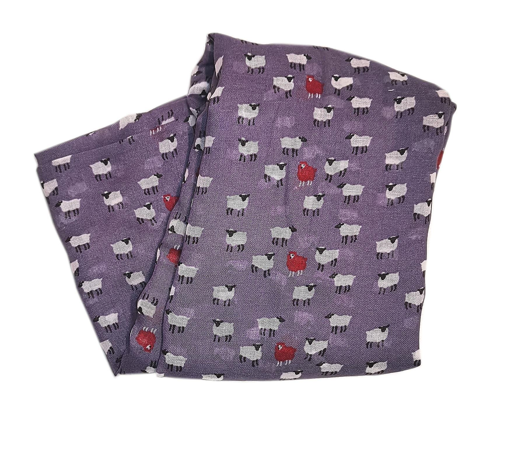 Peony Scarf - Sheep - Purple