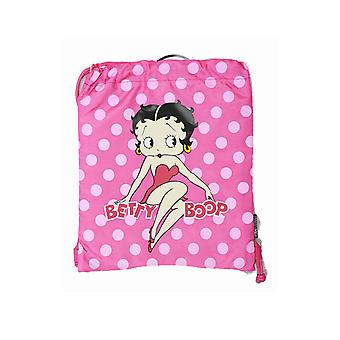 String Backpack - Betty Boop - Polka Dot - Cinch Bag New Girls Gift 35246