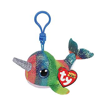 TY Key Clip Nori the Narwhal
