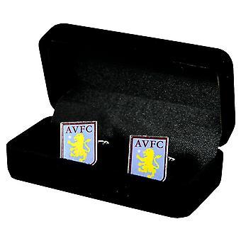 Aston Villa FC futebol oficial crista Metal abotoaduras