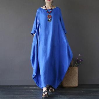 Baggy übergroße lange Maxi-Kleid
