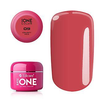 Base en-farge-sprø rød 5G UV gel