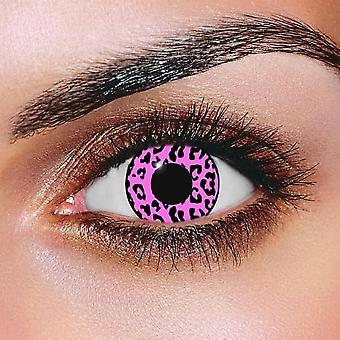 Pink Cheetah Contact Lenses