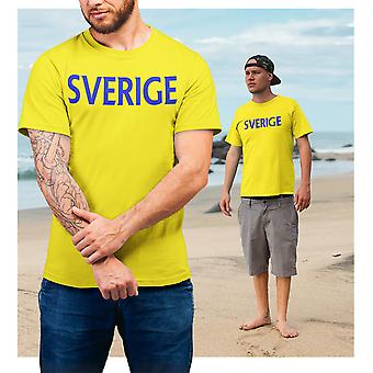 Camiseta amarela da Suécia