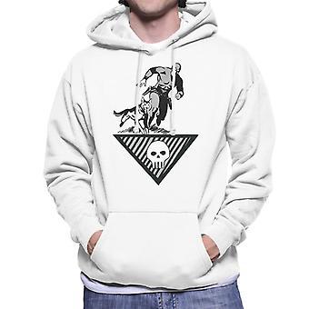 The Phantom & Wolf Running Men's Hooded Sweatshirt