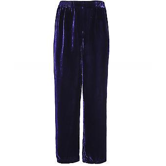 Grizas Velvet Wide Leg Trousers