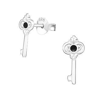 Schlüssel - schlichte Ohrstecker 925 Sterling Silber - W21396X