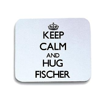 Tappetino mouse pad bianco wtc0060 keep calm and hug fischer