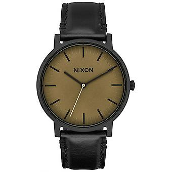 Nixon the porter watch for Japanese Quartz Analog Man with Cowskin Bracelet A10582988