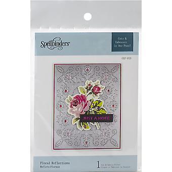 Spellbinders Cutting Embossing Folders-Floral Reflections