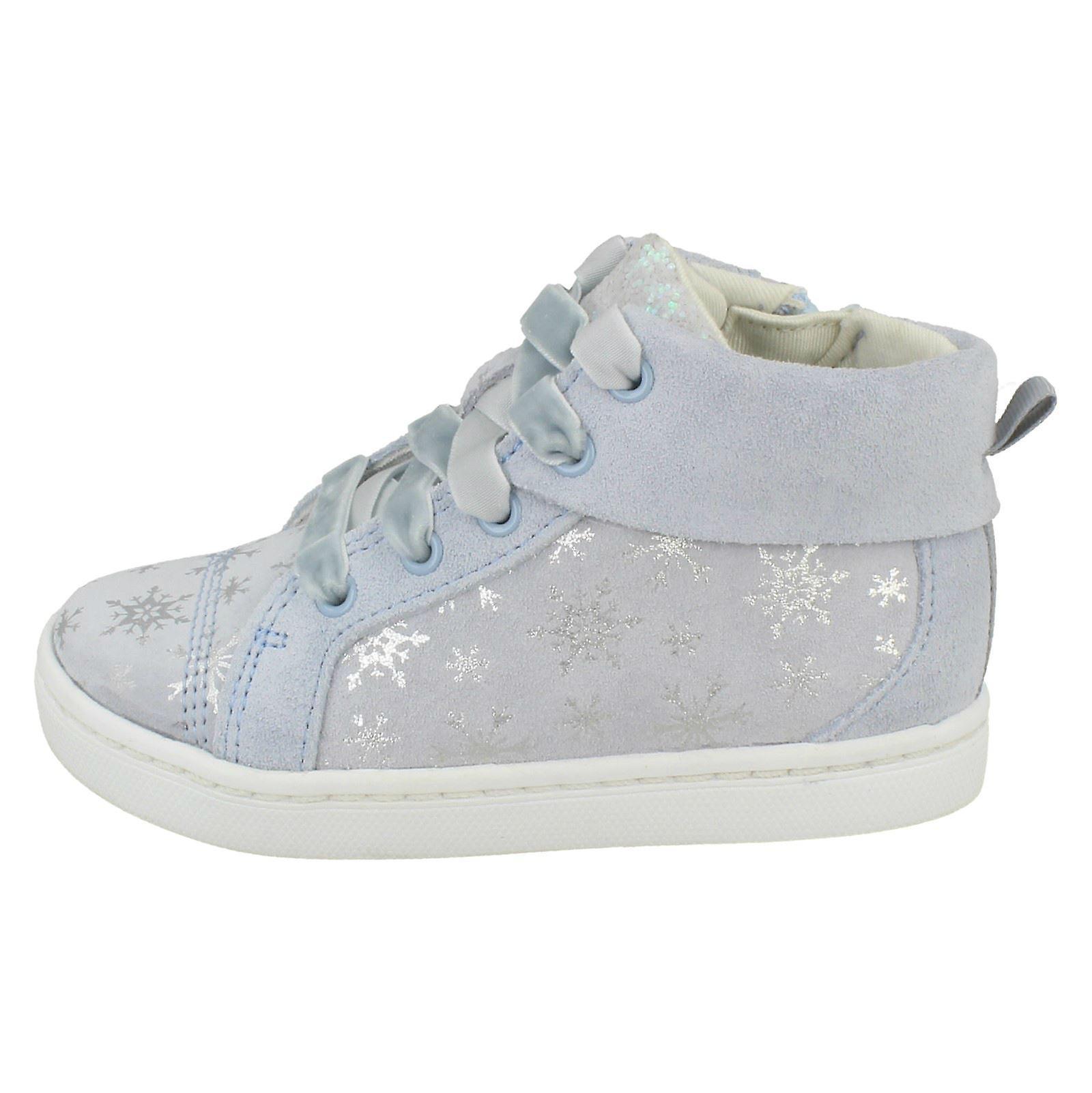 Girls Clarks Disney Frozen Ankle Boots City Frost