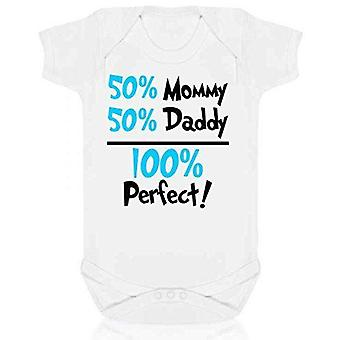 100% perfect short sleeve babygrow