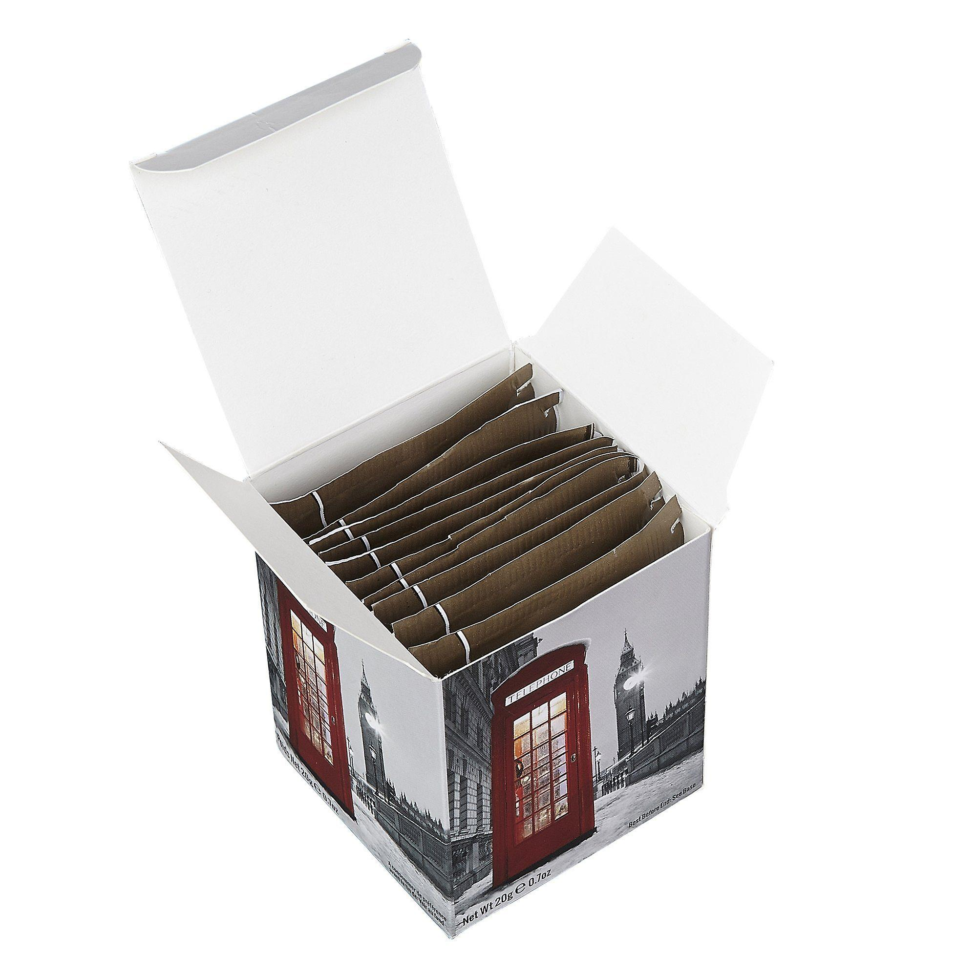 English telephone box snow scene breakfast tea 10 teabag carton