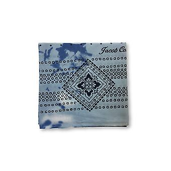Jacob Cohen Pocket Square in blue/white abstract geometric design