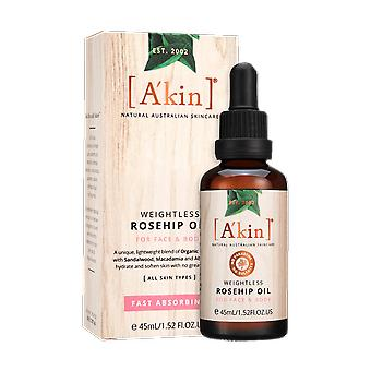 A'kin Weightless Rosehip Oil 45ml