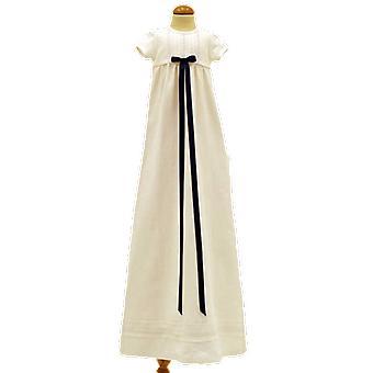 Dopklänning, Grace Of Sweden, Med Mörk-blå Doprosett    Tr.v.k
