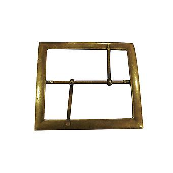 Large Rectangle Brass Buckle with Two Pins