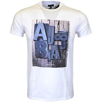 أرماني جينز C6h01 تمتد القطن قميصا أبيض