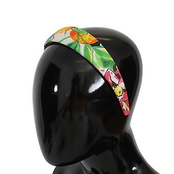 Dolce & Gabbana Multicolor Floral Cotton Headband