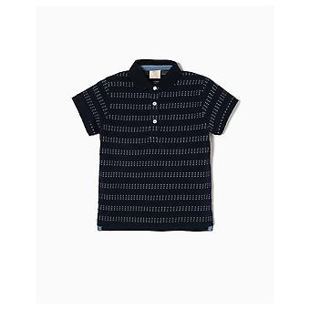 Zippy Polo Short Sleeve Striped & Flecks