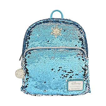 Frozen Backpack Elsa Reversible Sequin Mini new Official Loungefly Disney White