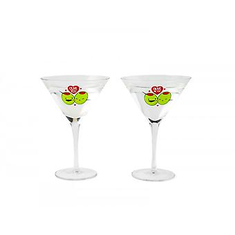 BigMouth Inc. 'Olive You' Martini Glass Set Of 2