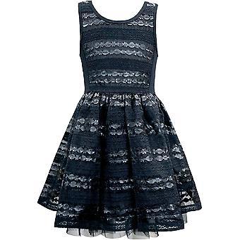 Hannah Banana Big Girls Tween Faux Leather Party Dress,, Black Novelty, Size 14