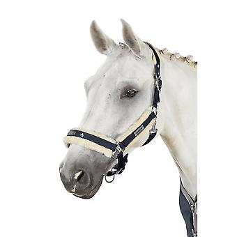 Eskadron Next Generation Pin Buckle Faux Fur Headcollar - Inkblue