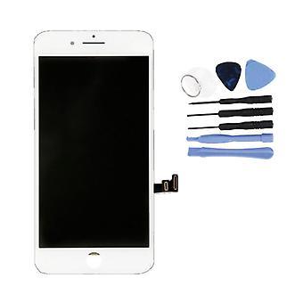 الاشياء المعتمدة® iPhone 8 Plus الشاشة (شاشة تعمل باللمس + LCD + أجزاء) A + الجودة - الأبيض + الأدوات