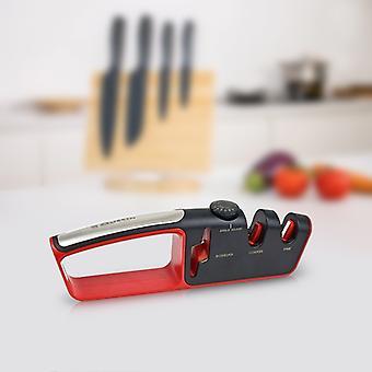Messer und Schere Schärfer Quttin Schwarz Rot (25,6 x 4 x 7,9 cm)