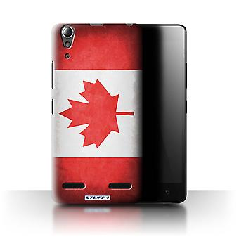 STUFF4 Case/Cover for Lenovo A6000+/Plus/Canada/Canadian/Flags