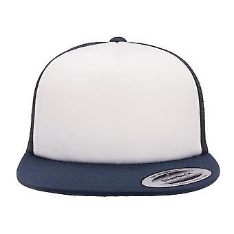 Flexfit By Yupoong Foam Trucker Cap With White Front